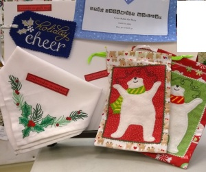 Make a cute bear bag and get the designs for these gift tags and Napkins