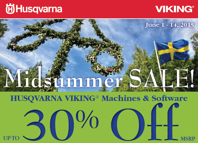 Midsummer Sale On Husqvarna Viking Sewing Machines