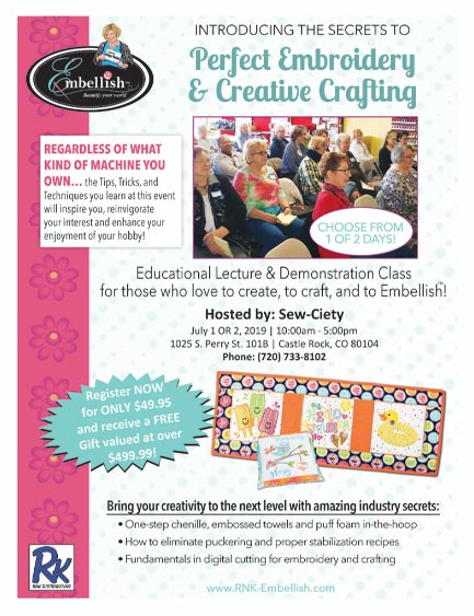 Introducing the Secrets to Perfect Embroidery & Creative Crafting